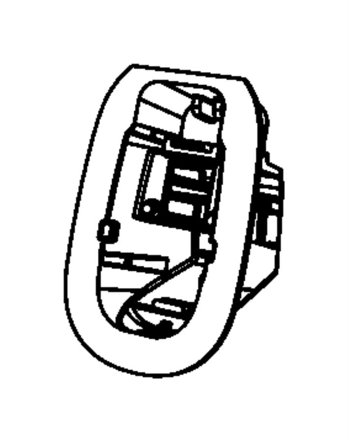 2013 Dodge Durango Bracket. Coat hook. [power sunroof