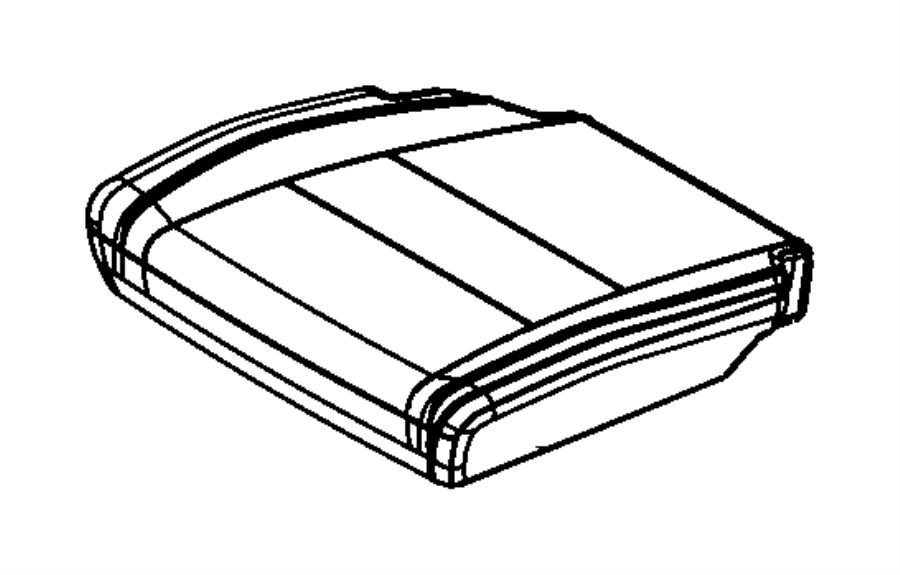 2013 Dodge Durango Cover. Rear seat cushion. Left. Trim