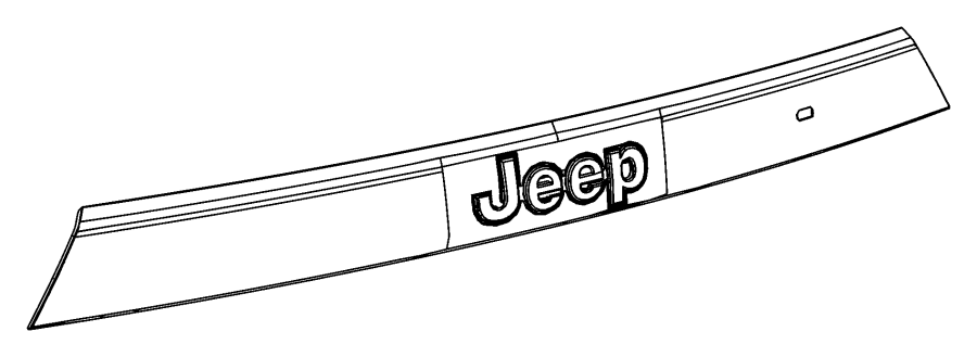 Jeep Grand Cherokee Applique, handle. License lamp