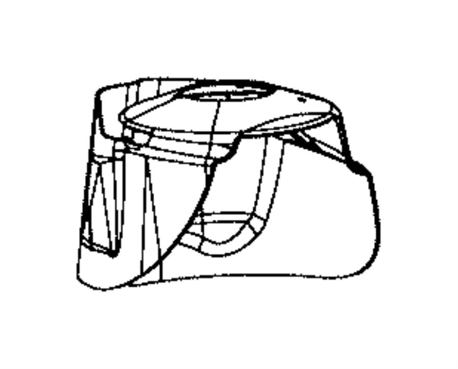 Jeep Grand Cherokee Shield. Dust suspension rear. Left
