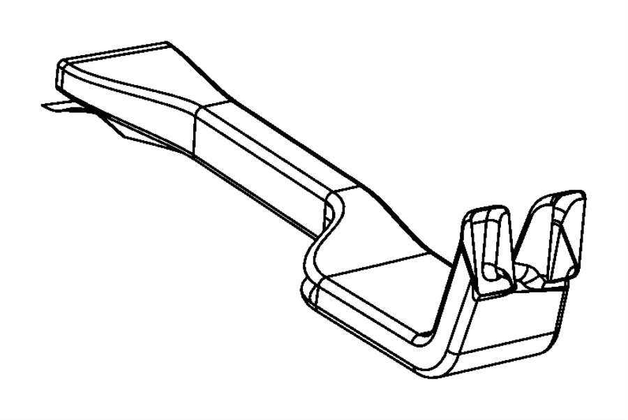 2015 Jeep Grand Cherokee Duct. Air outlet, center console