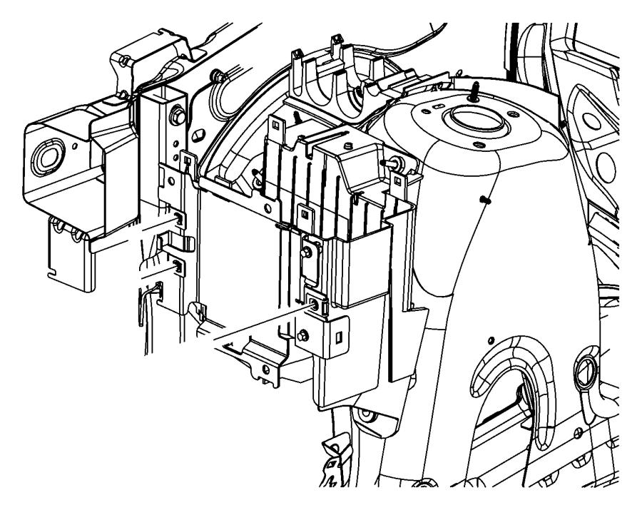 2012 Dodge Durango Bracket. Engine control module