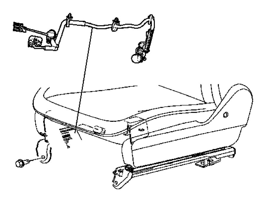 Dodge Durango Wiring. Power seat. Trim: [cloth low back