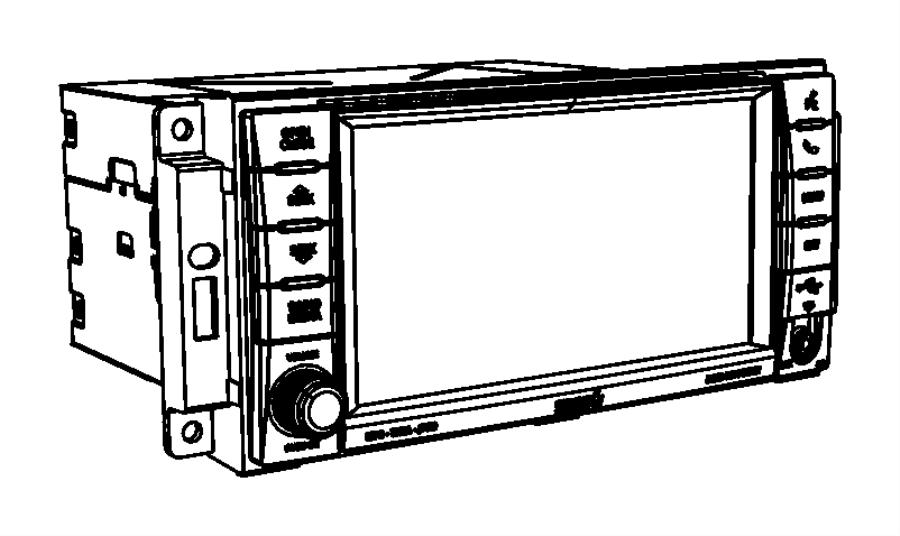 Dodge Grand Caravan Radio. Multi media. Uconnect, panel