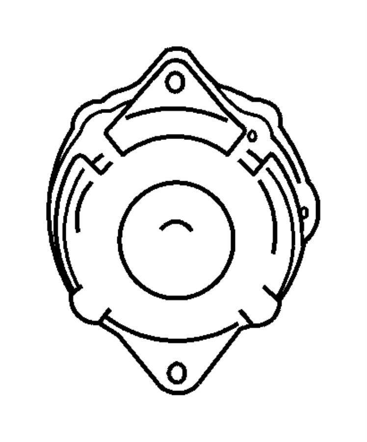 2009 Chrysler PT Cruiser Generator. Engine. [120 amp