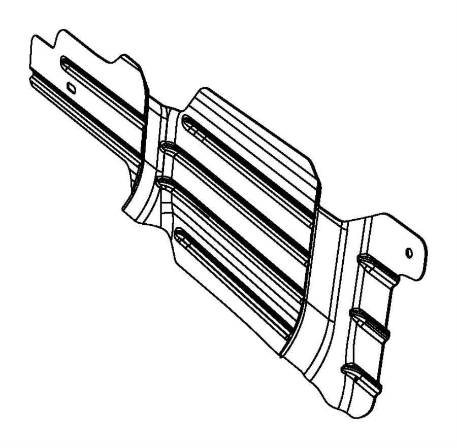 Dodge Ram 1500 Shield. Fuel tank, fuel tank heat. [34