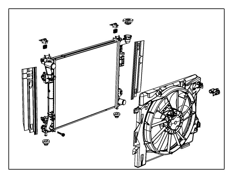 Dodge Journey Resistor. Radiator fan. Attached, fans