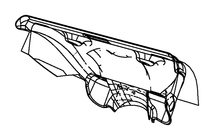 2012 Dodge Avenger Shield. Exhaust manifold. Lower, upper