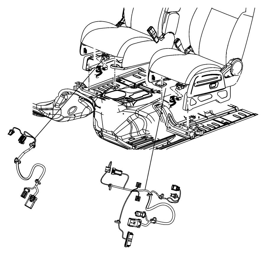 Chrysler Sebring Wiring. Power seat. Trim: [premium cloth