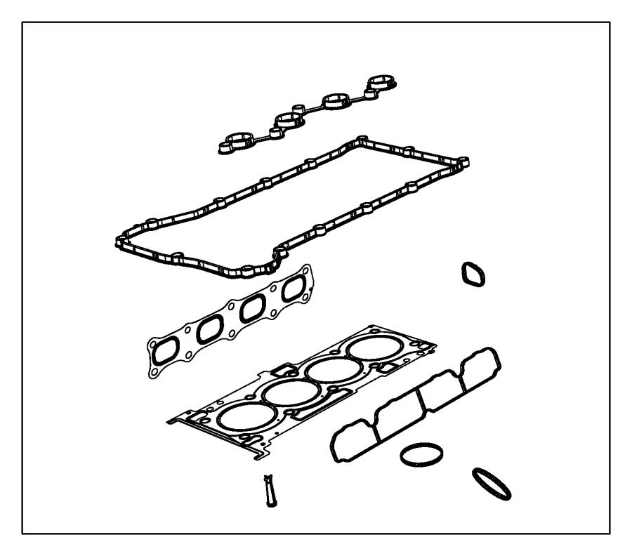 2010 Dodge Caliber Gasket. Mounting. Intake manifold