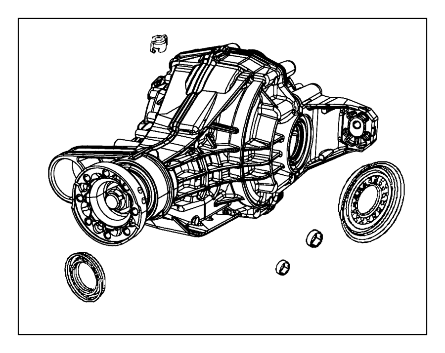 Dodge Durango Differential. Rear axle. Ratio, top, overall