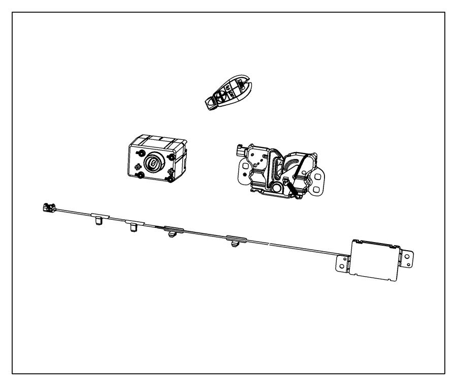Dodge Durango Transmitter. Integrated key fob. [[remote