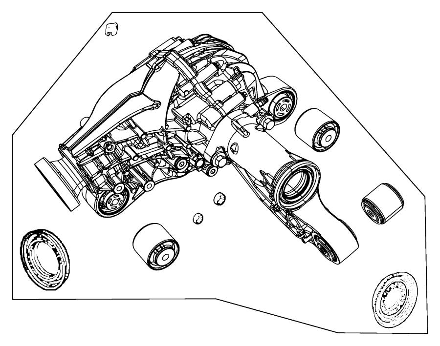 Jeep Grand Cherokee Isolator. Axle mounting. Front, ratio