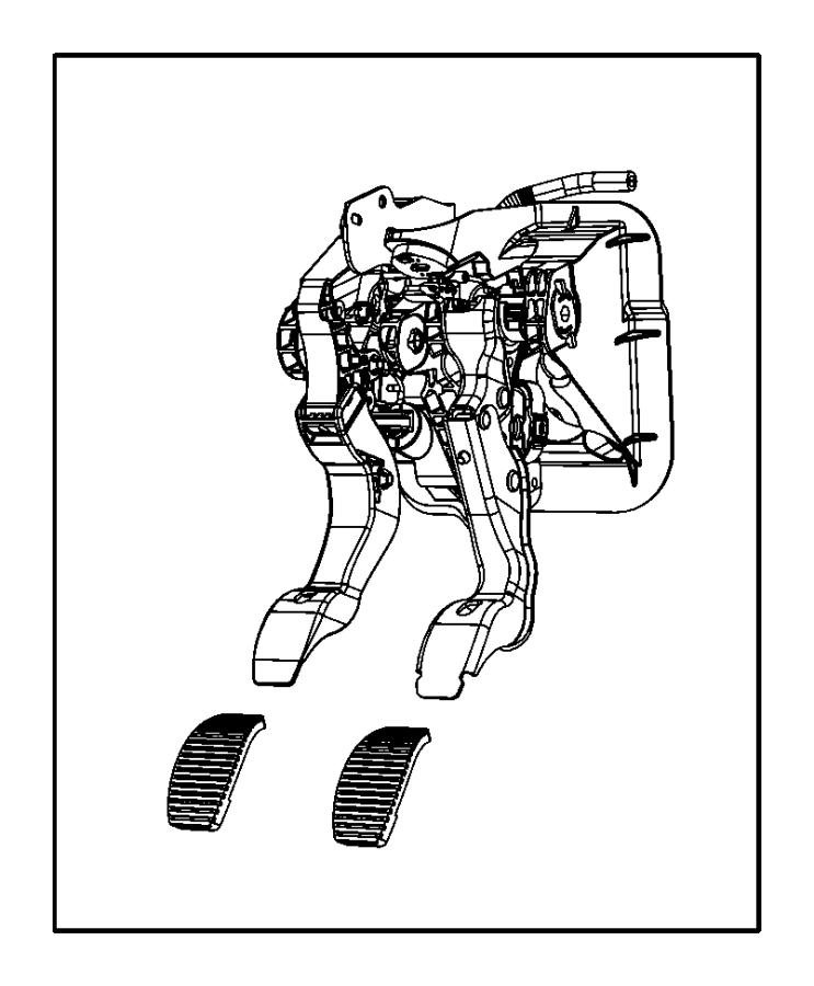 2014 Dodge Dart Bracket. Brake and clutch. Transmission