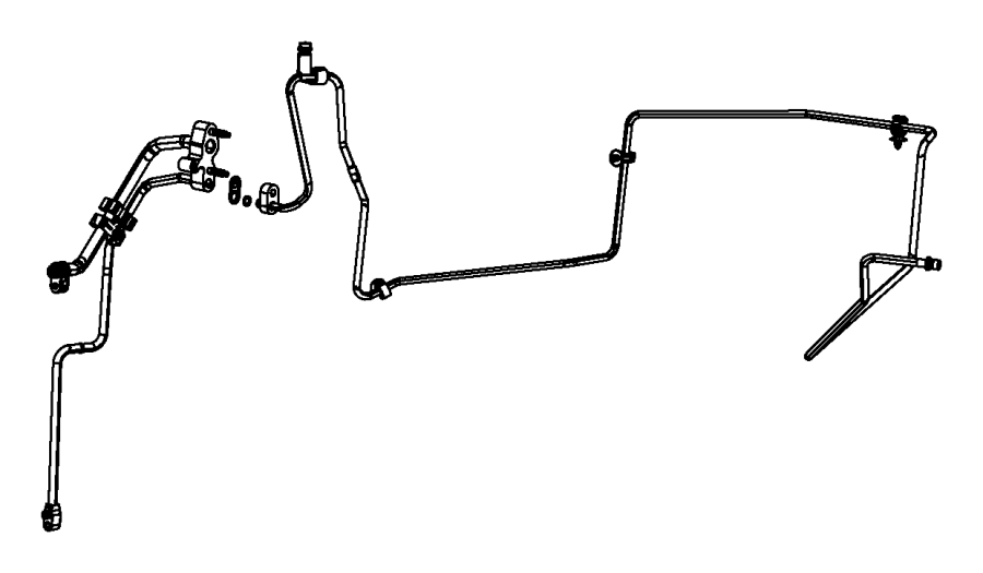 2001 Dodge Durango Clip. Wiring. Liquid line attaching