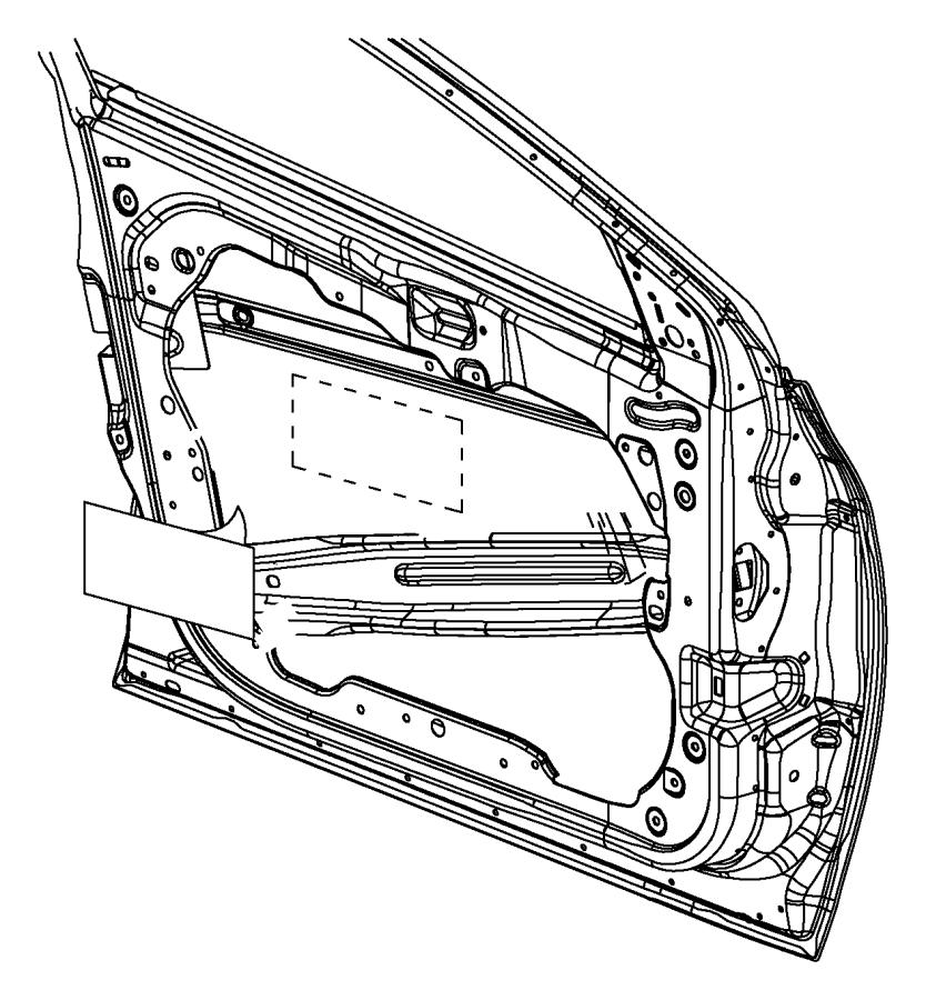 2014 Dodge Dart Panel. Front door outer repair. Right