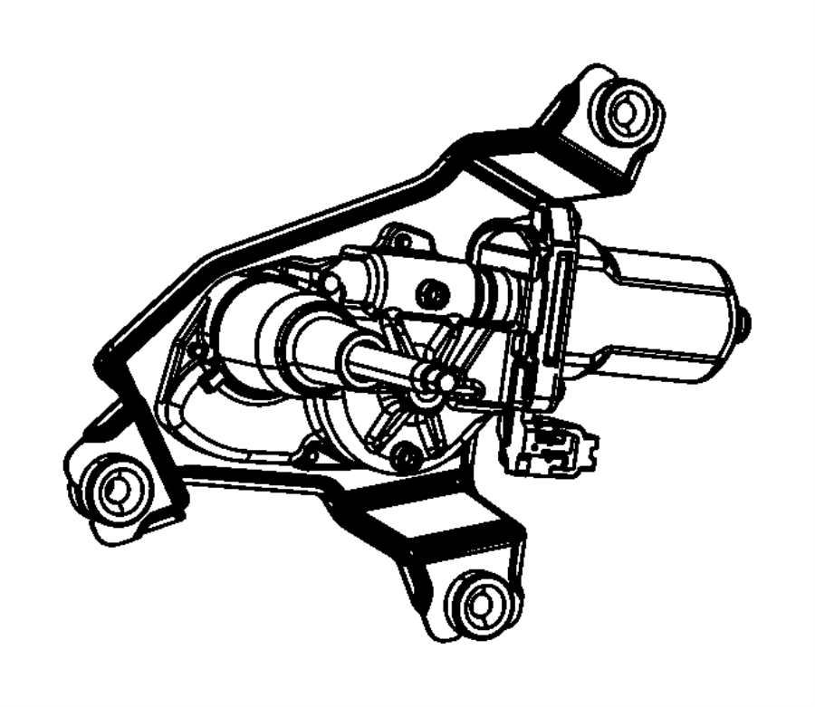2013 Dodge Durango Motor. Liftgate wiper. [rear window