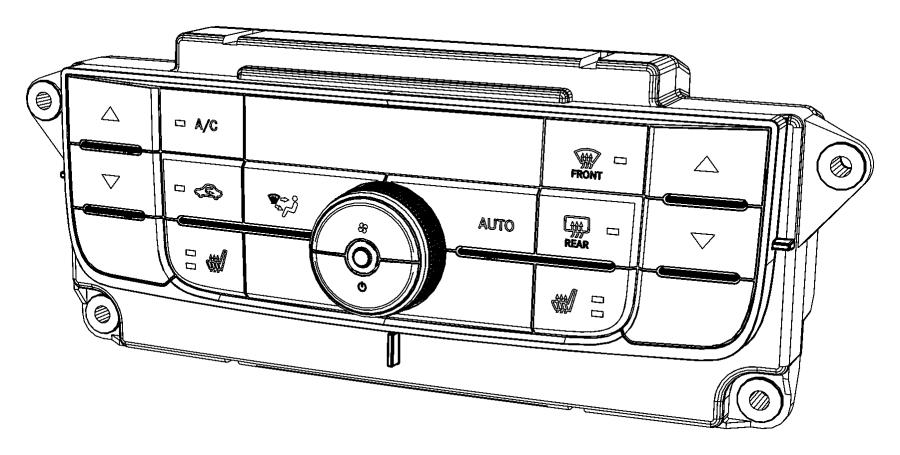 2013 Dodge Durango Control. A/c and heater. [air cond atc