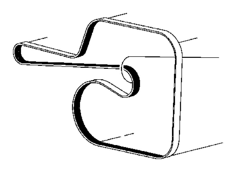 2014 Dodge Durango Belt. Serpentine. After 06/07/10. Belts