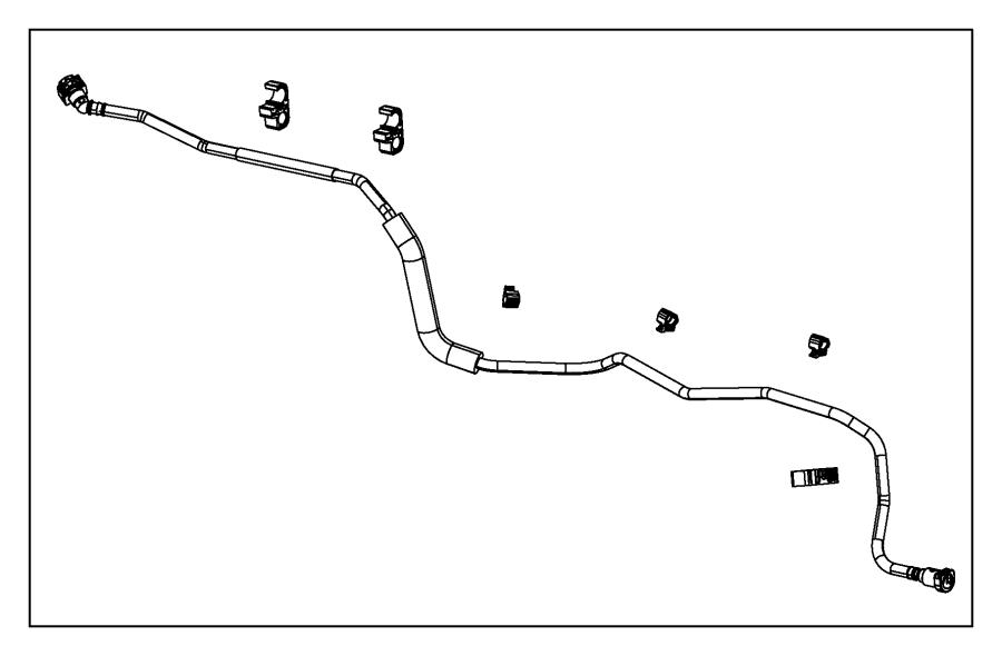 2015 Chrysler 200 Clip. Fuel line. Detection, canister