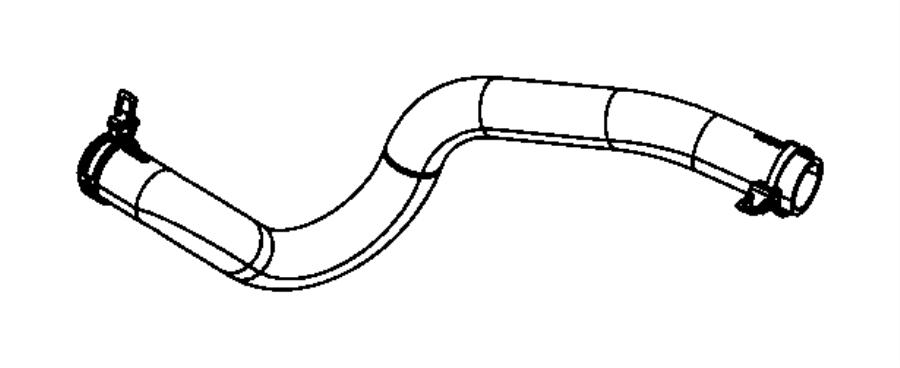 2011 Chrysler Sebring Hose. Radiator outlet. After 05/02