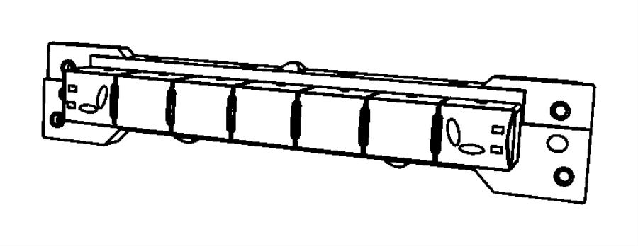 2011 Dodge Ram 3500 Switch. Instrument panel. Front