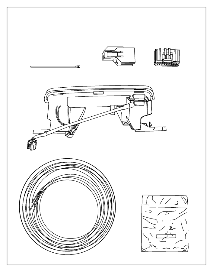 2013 Dodge Charger Camera kit. Back up. Fca, electronics