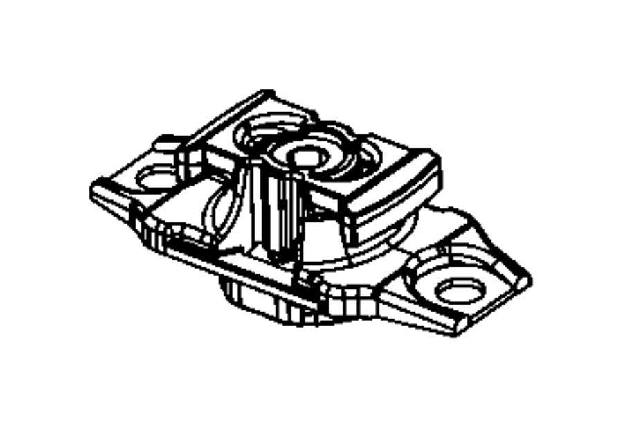 2014 Fiat 500C Isolator. Transmission mount. Left side. [6
