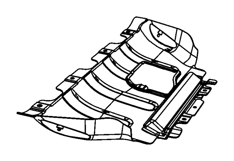 Dodge Durango Belly pan. Front. [5.7l v8 hemi mds vvt
