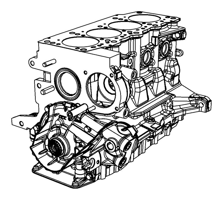 2013 Dodge Dart Engine. Short block. Heater, cylinder