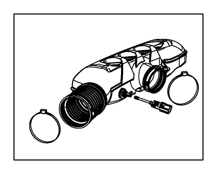 2014 Dodge Durango Resonator. Air cleaner. Mopar, fuel