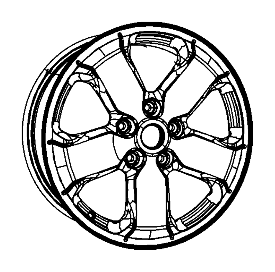 Jeep Grand Cherokee Wheel. Aluminum. Color: [no