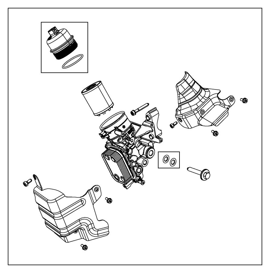 2013 Dodge Dart Gasket. Oil filter adapter. Engine