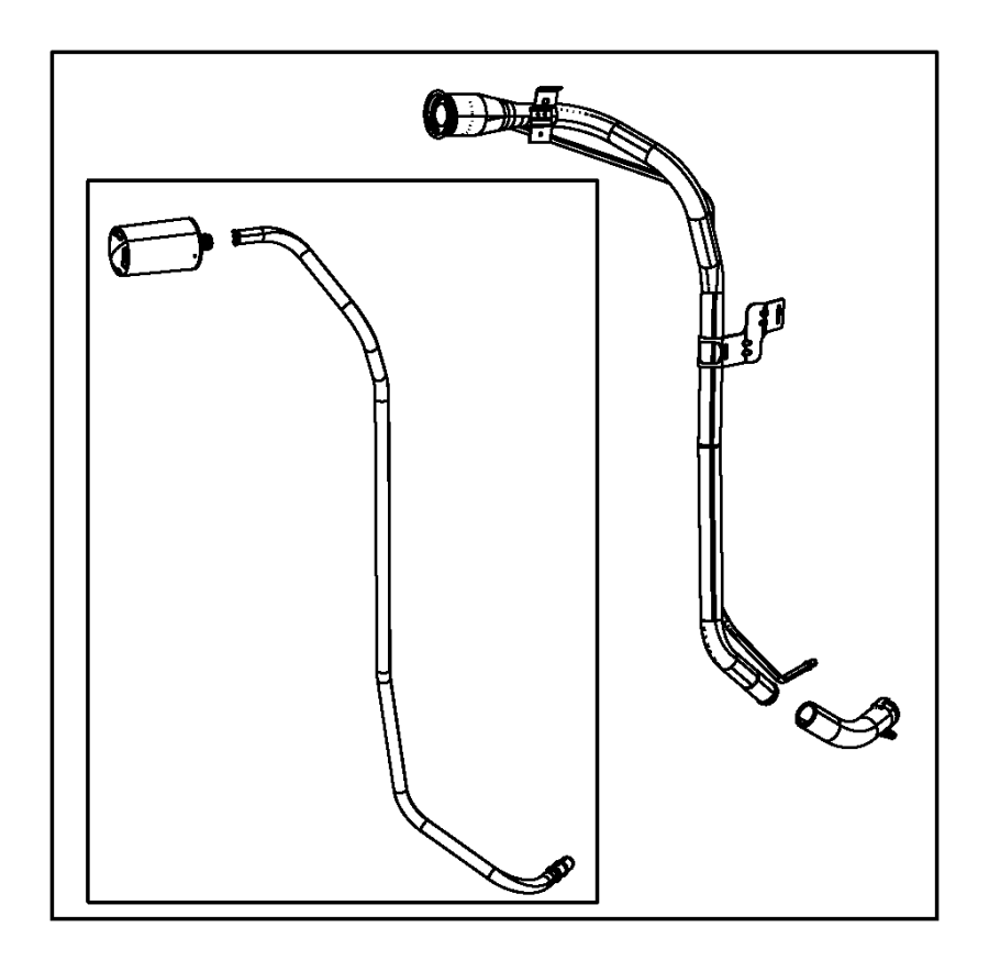 2011 Jeep Wrangler Hose. Fuel filler. Tube, tank, related