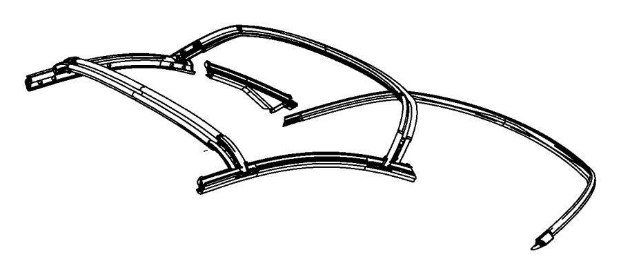 Chrysler 200 Weatherstrip. Folding top panel. Hard