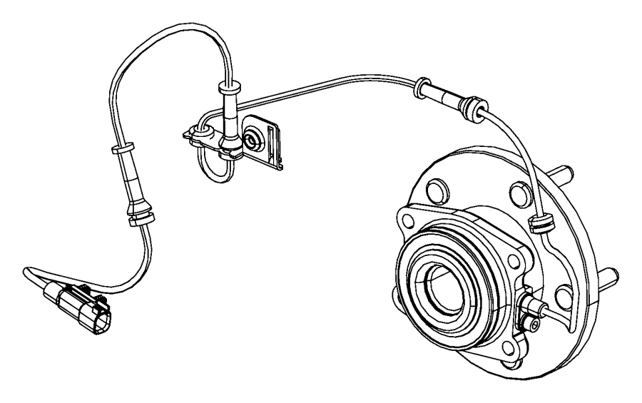 Jeep Grand Cherokee Sensor. Anti-lock brakes. Front, left