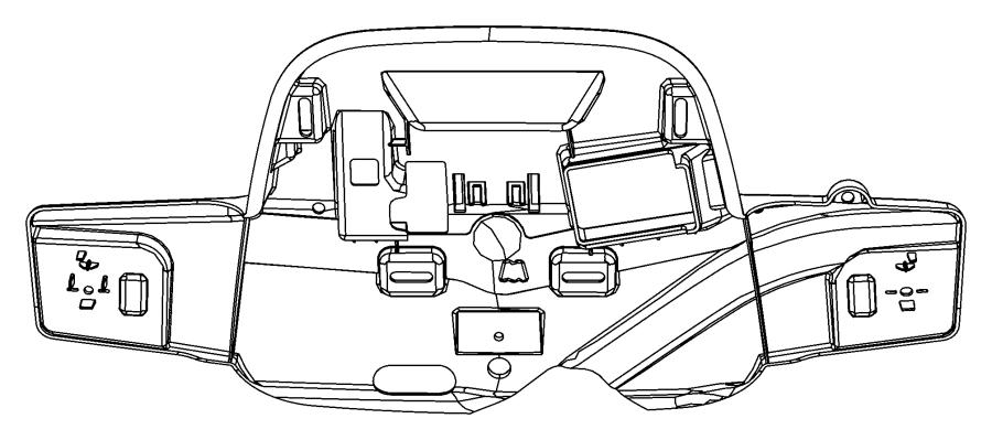 2015 Dodge Durango Retainer. Overhead console. Trim: [no