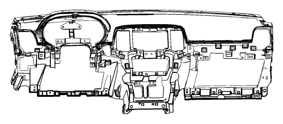 2013 Jeep Grand Cherokee Base pane. Base panel. [black