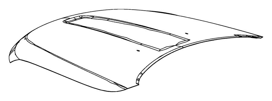 Jeep Grand Cherokee Panel. Hood. [6.4l v8 srt hemi mds