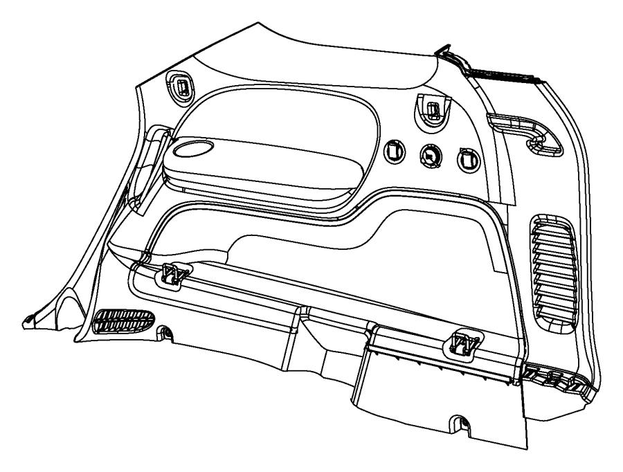 2014 Dodge Durango Liner. Cargo. Left. Trim: [all trim