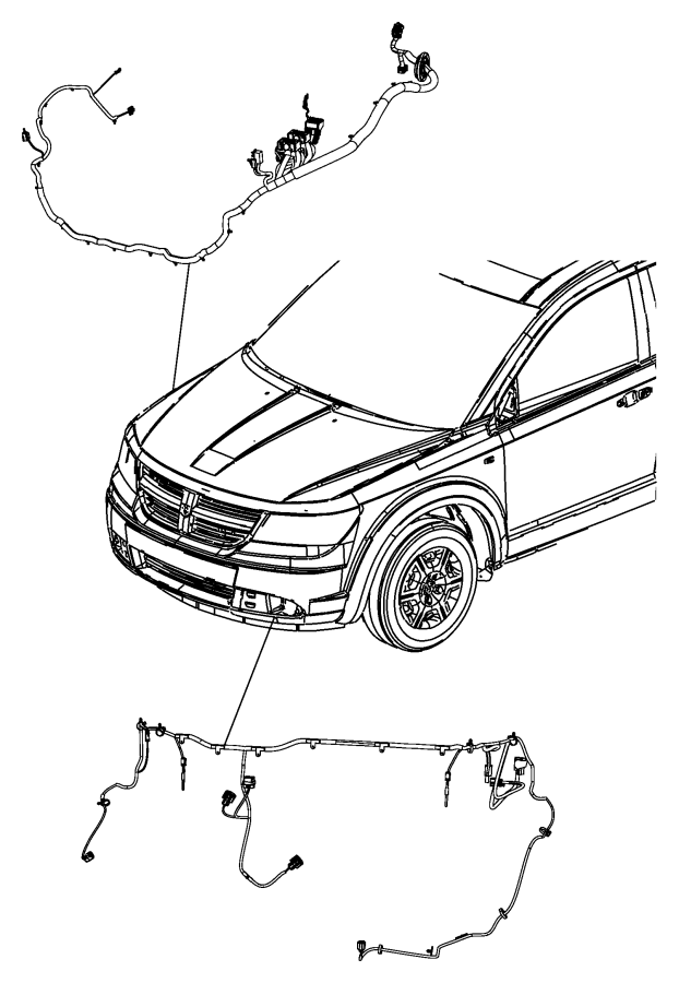 2014 Dodge Journey Wiring. Front end module. [fog lamps