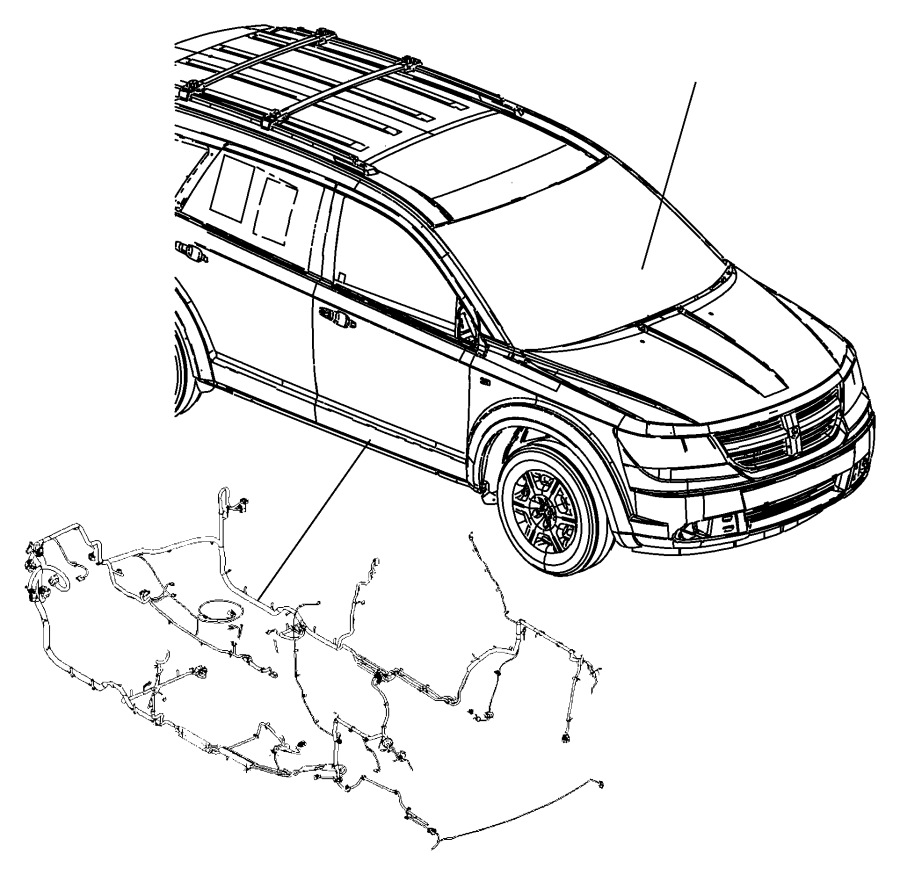 Dodge Journey Wiring. Unified body. Mexico. [6 speakers