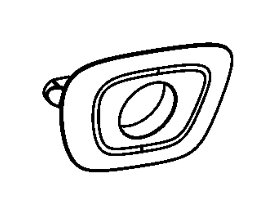Dodge Dart Bezel. Back up camera. [fe] citrus peel. Color