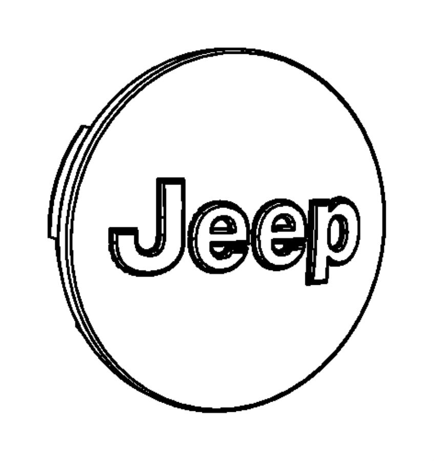 2018 Jeep Grand Cherokee Cap. Wheel center. Color: [no