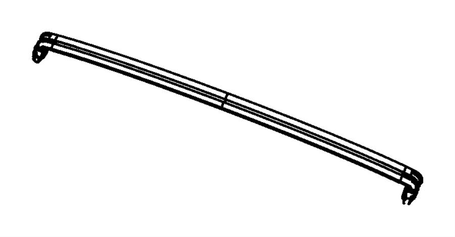 2015 Jeep Wrangler Rivet. Windshield header. 125x.588