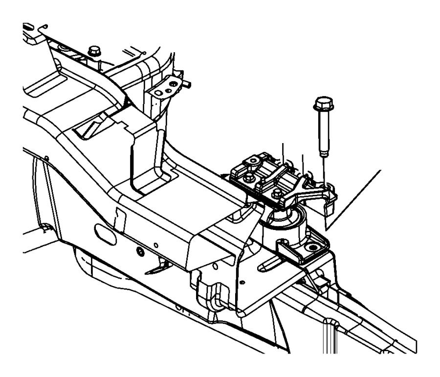 2014 Dodge Avenger Isolator. Engine mount. Right side