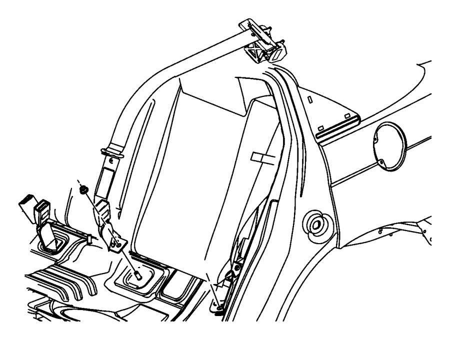 2013 Chrysler 200 Buckle. [x9], [xr]. Trim: [all trim