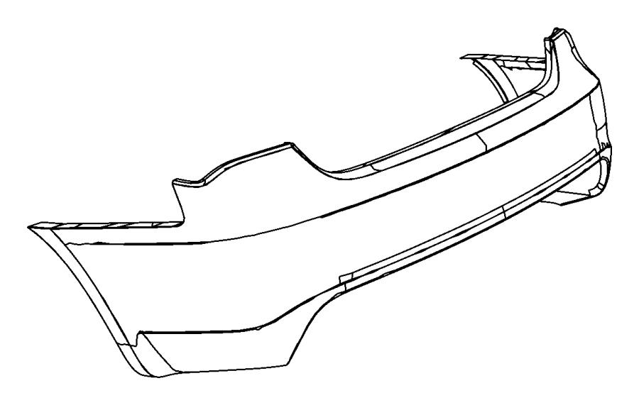Chrysler Sebring Fascia. Rear upper. Primed. Color, bright
