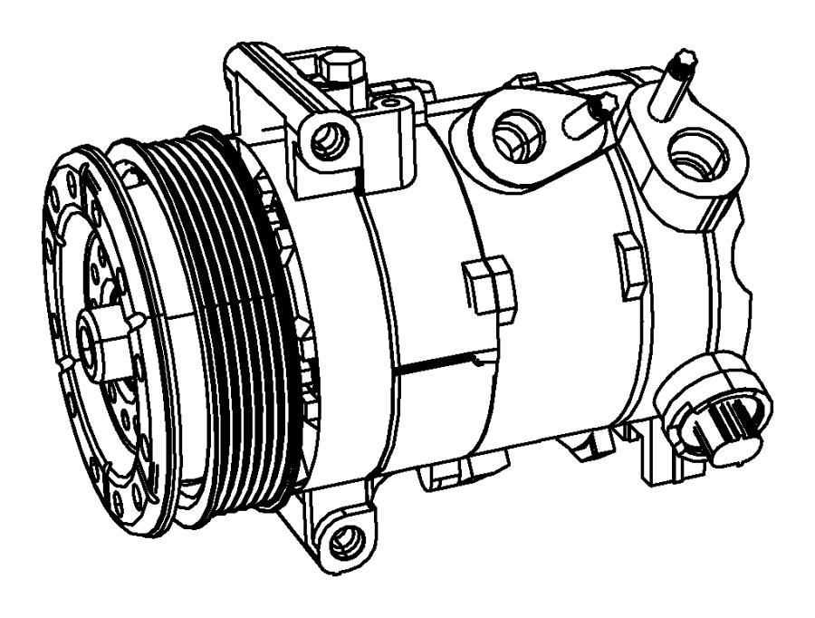 2016 Dodge Journey Compressor. Air conditioning. Auto