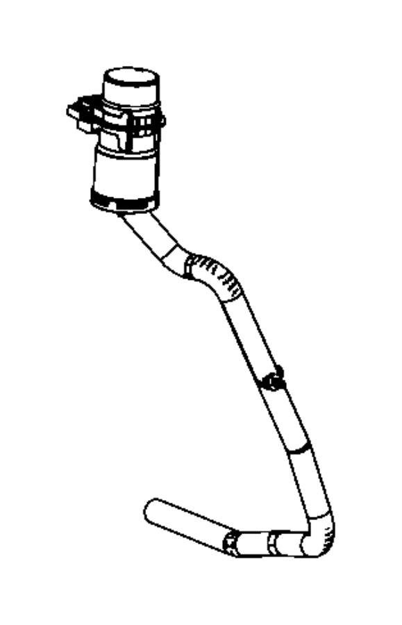 Dodge Avenger Hose and filter. Fuel filler vent